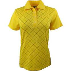 Page amp; Tuttle Solid Textured Jersey Womens Golf Top Casual Polo Short Sleeve $14.99