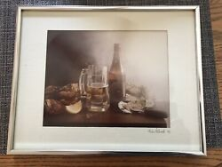 Baltimore Food Photo Oyster Beer 14quot;x11quot; Framed Kitchen Restaurant Wall Decor $30.00