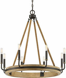 Quoizel KEA5031 Kearney 8 Light 31quot;W Ring Chandelier Bronze $649.99