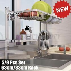 Over Sink Shelf Stainless Steel Dish Cutlery Drying Rack Drainer Kitchen Holder $10.68