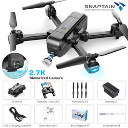 SNAPTAIN 5G WiFi Foldable Drone 2.7K Camera UHD Live Video GPS FPV RC Quadcopter $94.99