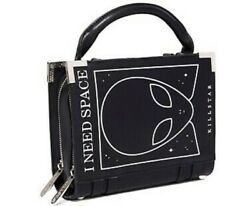 KILLSTAR Need Space Book Handbag Purse Alien UFO Area 51 Gothic Black