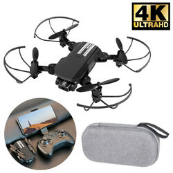 2021 New RC Drone 4k HD Camera WIFI FPV Drone Camera Quad Copter For Adults Kids $22.99