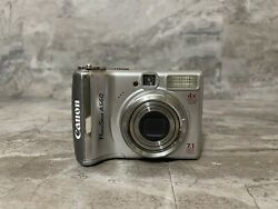 """Canon PowerShot A560 Camera 7.1MP Optical Zoom 4X Silver """"NOT TESTED"""" $9.99"""