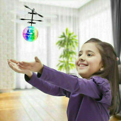 RC Flying Ball Drone Helicopter Ball Built in Disco Music With Shinning LED A3 $11.32