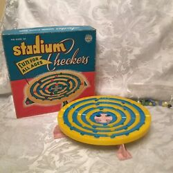Vintage #300 Fun For All Ages THE GAME OF STADIUM CHECKERS Made amp; Printed In USA $29.99