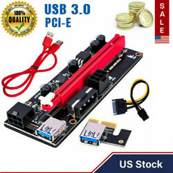 VER009S PCI E Riser Card PCIe 1x to 16x USB3.0 Data Cable Bitcoin Mining US $8.89