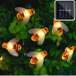 Garland Street 50 LED Lamps Solar Battery Decor Summer Cottage $22.00