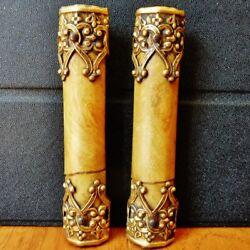 One Set of Two Columns for Black Mantel Clocks Antique Parts C $9.99