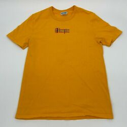 Vintage 1990s Champion Yellow Spell Out Logo T Shirt Adult Mens Size Medium $16.96