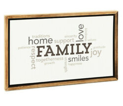 Family Word Art Framed Quote Sign 19x11.75 $22.50