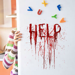 3D Decor Bloody Wall Stickers Letter Blooding Handprint Decor Y1 $2.44