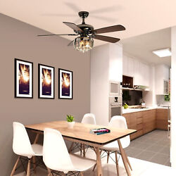 YITAHOME 5 Blades Reversible Ceiling Fan With LED Light Chandelier and Remote $203.58