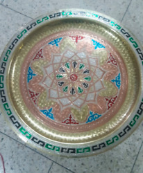 Moroccan Table Painted Tray With Wooden Support Legs $249.00
