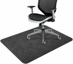 36quot; x 48quot; Inch Office Home Desk Chair Mat Carpet For Hardwood Floor with Black $23.95