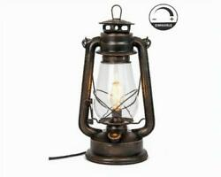 Electric Lantern Table Lamp with variable dimming controller Rust Patina Hand $54.99