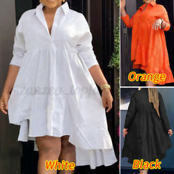 Womens Casual T Shirt Dress Oversized Pleated Tunic Dress Holiday Party Dresses $23.74