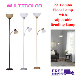 72 Inch Floor Lamp Living Room Light Stand Scoop Shade Reading Torchiere SALE $18.49