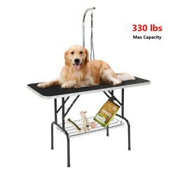 48quot; Foldable Pet Grooming Table with Mesh Tray and Adjustable Arm New $71.49