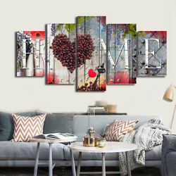5Pcs Set Wall Painting Love Heart Home Canvas Picture Living Room Bedroom Decor $10.10