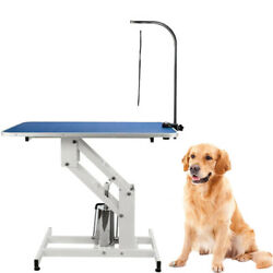 Heavy Duty Large Pet Grooming Table Lift Dog Table W Clamp Hydraulic Bath Table $282.98