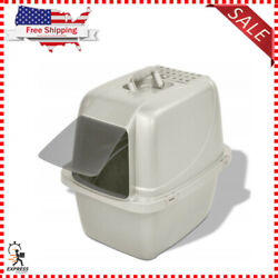 Covered Cat Litter Box Large For Single Cat Easy Clean With Four Latches Lock $22.35