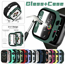 For Apple Watch Series 6 5 4 SE40 44mm Full Screen Protector Glass Bumper Case $6.44
