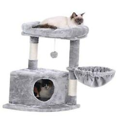 Cat Tree Cat Condo with Plush Perch Cat Tower Sisal Scratching Post Kitty $82.56