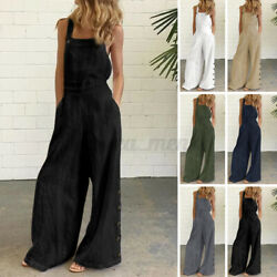 Womens Summer Jumpsuits Strap Romper Holiday Party Overalls Loose Dungarees Plus $16.99
