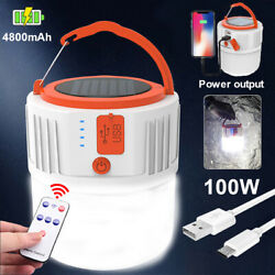 Rechargeable Solar LED Camping Light Lantern Hiking Tent Lamp Outdoor w Remote $13.90