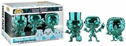Funko Pop Haunted Mansion Phineas Ezra Gus Chrome Exclusive 3 Pack $27.95