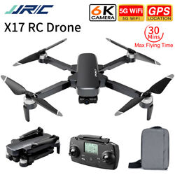 JJRC X17 GPS 5G Drone WiFi 6K HD 2 Axis Gimbal Camera Foldable RC Quadcopter $174.02