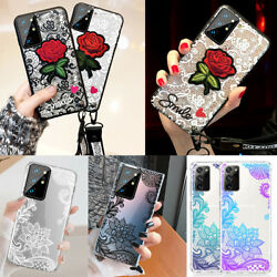 Shockproof Cute Lace Case for Samsung S21 Note 20 Note10 Plus Cover Woman Girls $7.89