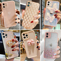For iPhone 13 12 Pro Max 11 XR XS Max 8 Shockproof Girls Phone Case Cute Cover $7.98