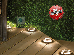 Sterno Home Solar Powered Multi Surface Light Easy Installation 4 pack