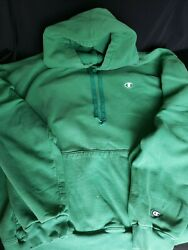 Vintage Champion XXL Hoodie Rare Green Pre owned $119.95