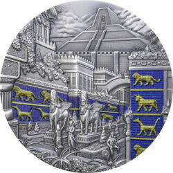 2021 Palau $10 Lost Civilizations Babylon Antiqued 2 oz Silver Coin 555 Made $397.50