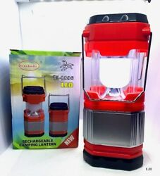 SOLAR RECHARGEABLE CAMPING LANTERN LED Red $12.99