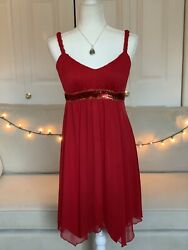 Sweet storm Red Cocktail Dress Womens Large $22.88
