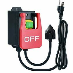 110V Single Phase On Off Switch Ortis Router Table Switch with Large Stop Sign $49.98