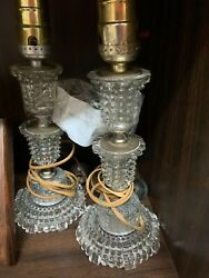 Matching Depression Glass Electric Lamps $30.00