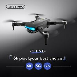 2021 NEW Drone 6K HD Camera RC Quadcopter GPS 5G WiFi Professional Aerial Photo $129.66