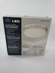 ALTAIR LIGHTING Flushmount 14quot; LED Dimmable Ceiling Fixture Brushed Nickel NOB $37.99