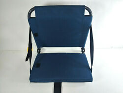 GCI Outdoor Navy Blue Foldable Portable Bleacher Stadium Chair with Back Support $21.99