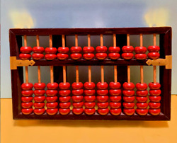Antique Chinese Abacus LOUTUS FLOWER BRAND 19th Century $226.79