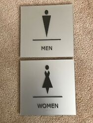 """Men amp; Women commercial signs 9"""" x 9"""" with Braille"""