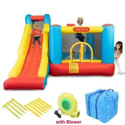 Safety Inflatable Bounce House Castle Jumper Bouncer Big Slide with 450W Blower $289.90