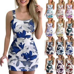 Womens Strappy Mini Dress Ladies Holiday Casual Beach Dresses Long Top Blouse $12.59