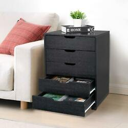 5 Drawer Dresser Clothing Storage Chest Beside Wall Bedroom Save Space Indoor $84.99