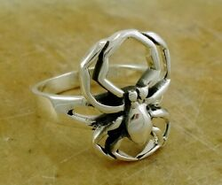 UNIQUE .925 STERLING SILVER SPIDER RING size 8 style# r2058 $16.99